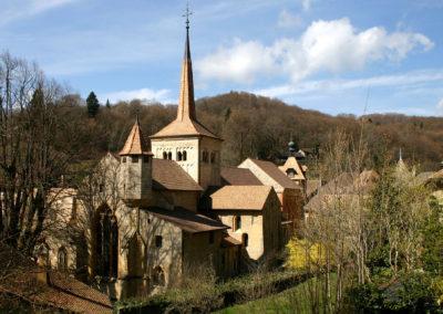 Abbaye depuis la route