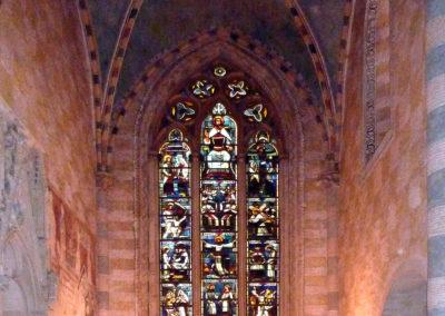 Choeur de l'abbatiale et vitrail