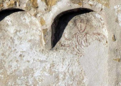 Dessins du XIe s. sur le clocher